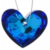 Truly In Love Heart 28mm Bermuda Blue Crystal P